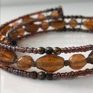 Jewelry - CHOKER ..AMBER BEADED WRAP AROUND CHOKER